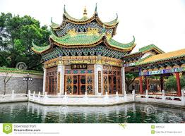 asian chinese classic house ancient architecture china editorial
