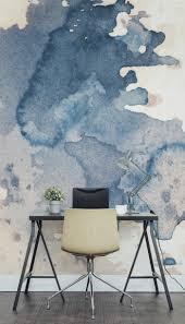 Wohnzimmer Modern Dunkler Boden Tolle Wandmalerei Dekoideen Wandgestaltung Ideen Schreibtisch