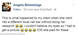 Nail Tech Meme - manchester woman horrified by her round nails manicure daily