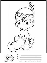 kids coloring page precious moments indian boy coloring sheet with