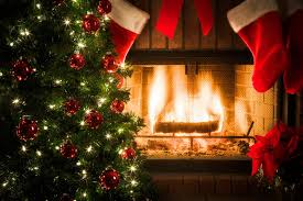christmas music with fireplace binhminh decoration