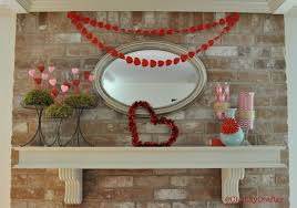 valentines decoration ideas valentine u0027s day mantel decorations clumsy crafter