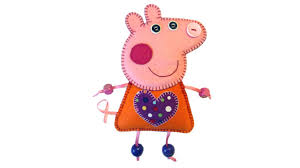 felt peppa pig tutorial with free pattern by pay