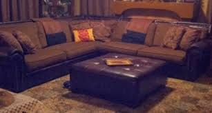 cindy crawford sectional sofa cindy crawford sectional leather fabric combo from rooms to go