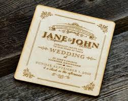 Engraved Wedding Invitations Engraved Invitation Etsy
