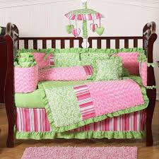 girls pink and green bedding excellent crib bedding sets for girls home inspirations design