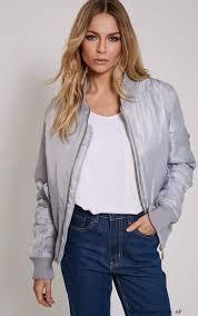 light bomber jacket womens buy brand alexus light grey bomber jacket women fashion laqzh at