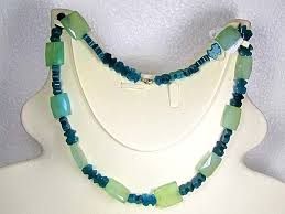 green agate necklace images Necklace lk0654 green agate beads with faceted quartz jpg