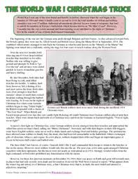 world war i christmas truce article and worksheet christmas
