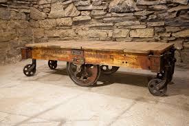 railroad luggage cart coffee table look here u2014 coffee tables ideas