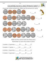 charlie printable money worksheets counting nickels and pennies