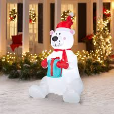 Outdoor Christmas Yard Decorations by Inflatable Outdoor Christmas Decoration Polar Bear Airblown