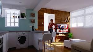 266 sq ft kitchen u0026 living room design youtube