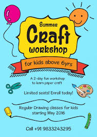 summer craft workshop for kids at thane west mumbai thane