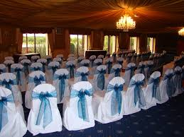 teal chair sashes chair covers balloons wedding and party decoration