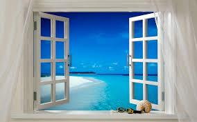 free photo window open ocean sea beach free image on