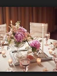 Vintage Flower Table Decorations Lace Wrapped Glass Vases Unique Centerpiece Ideas Unique