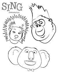 sing coloring page dancing pig get coloring pages
