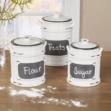 white canisters for kitchen canister set wayfair