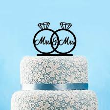 online shop personalized mr u0026mrs acrylic cake topper romantic