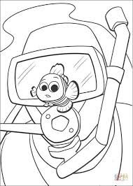 diver nemo coloring free printable coloring pages