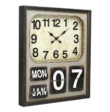 Wooden Wall Clock by Rustic Industrial Loft Wooden Wall Clock Kathy Kuo Home