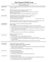 hr intern resume resume templates
