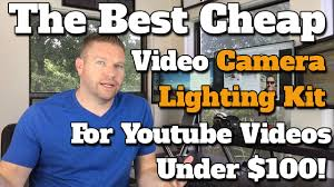 camera and lighting for youtube videos best cheap vlogging video camera lights photography lighting kit