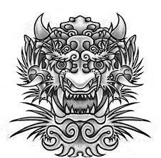 red ink japanese dragon tattoo design photo 1 photo pictures