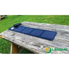 outdoor table ls battery operated lensun etfe laminated 20w folding solar charger 2 port usb portable