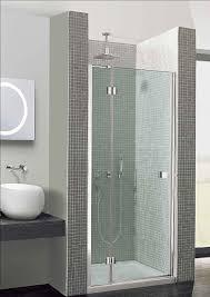 simpsons design hinged shower door 900mm with inline panel