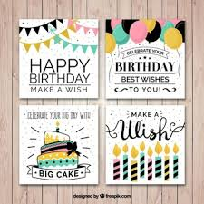 birthday card vectors photos and psd files free download
