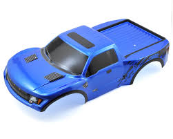 Ford Raptor Blue - ford raptor pre painted slash body blue by traxxas tra5815a