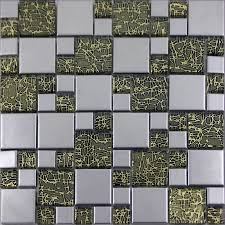 silver porcelain square mosaic tile designs crystal glass tiles