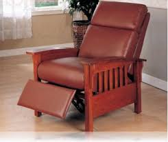 santa fe mission recliner leather recliner recliners coaster 8002brn