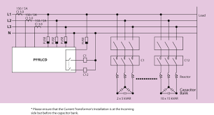 power factor controller wiring diagram components