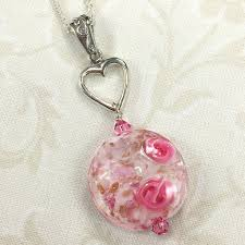 pink necklace images Kerenza necklace with pink rose venetian glass bead and silver jpg