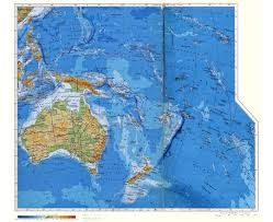 Russia Physical Map Physical Map by Maps Of Oceania And Oceanian Countries Political Maps Road And