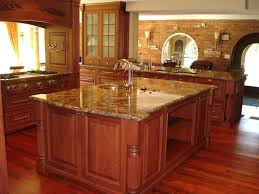 briliant cherry kitchen cabinets with granite countertops