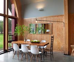 traditional swing arm with sloped ceiling dining room modern and