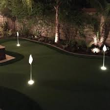 backyard lighted putting green putting green lights lighting for