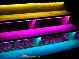 led strip lights for stairs outside stairs with waterproof rgb flexible led strip are great when