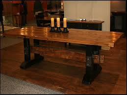 Dining Room Table Reclaimed Wood Reclaimed Wood Trestle Dining Room Table Trestle Dining Room Table