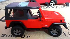 jeep toy bruder toy red 4 x 4 jeep wrangler suv youtube