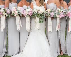 bridesmaid bouquet custom monogrammed bouquet ribbon 3 wide grosgrain