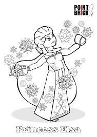 disegni da colorare lego disney princess frozen princess elsa