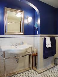 Navy Blue And White Bathroom by Navy Blue Bathroom Decor Small Rectangle Mirror Low Table Wall