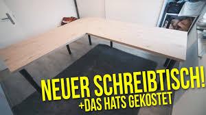 Ecktisch Schreibtisch Schreibtisch Selber Bauen Das Hats Gekostet Projekt Diy Büro