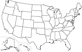 united states map outline free blank states map dr threestate borders quiz printable united