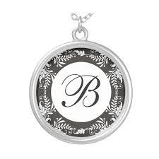 Monogram Letter B Monogram Letter B Pendant Necklace